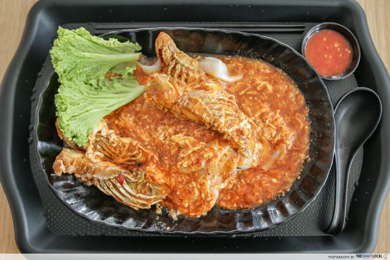 Yishun Park Hawker Centre Chilli Crab Sauce Crayfish Horfun Xin Long Xing