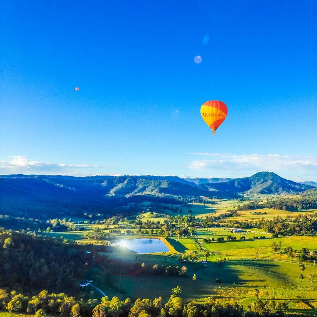 Hot air balloon ride unique things to do in Gold Coast hidden places in australia