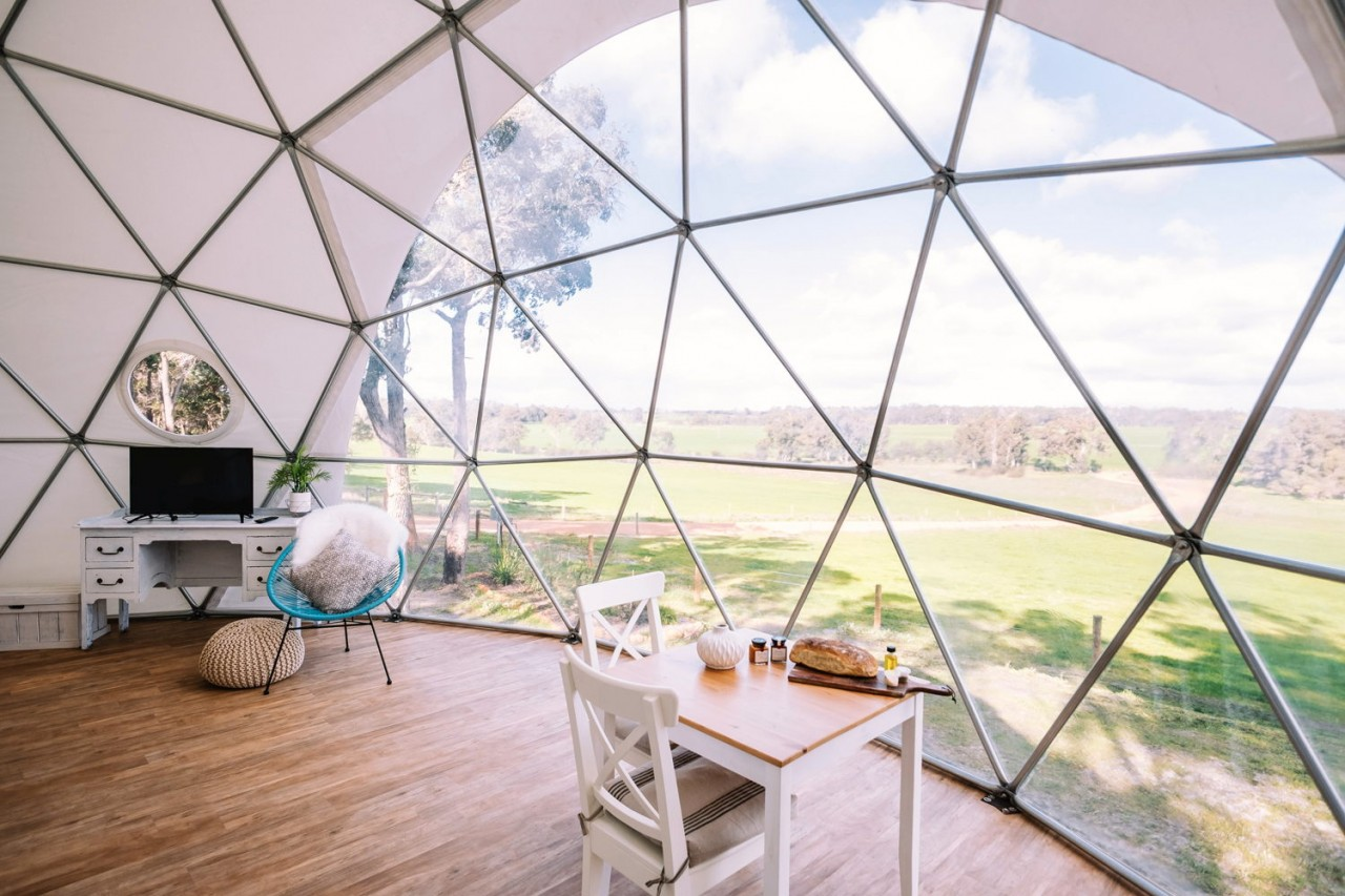 Camping and stargazing at Mile End Glamping unique things to do in perth hidden places in australia