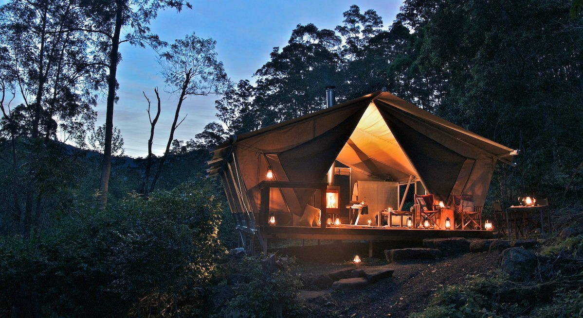 Nightfall Wilderness Camp glamping safari tents unique things to do in Gold Coast hidden places in australia