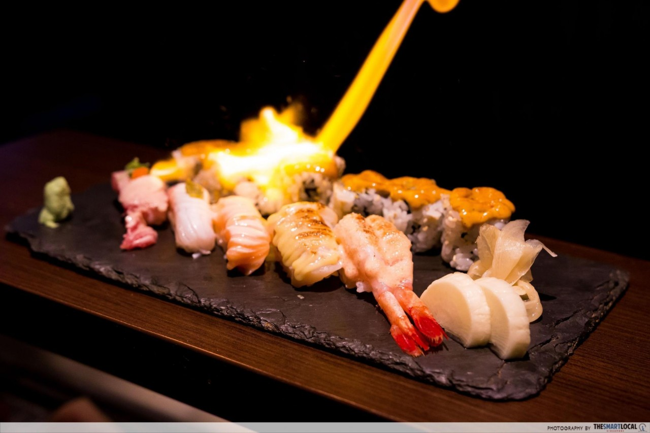 Tatsu At Asia Square Is A Japanese Restaurant With Flambé And Blowtorch Performances