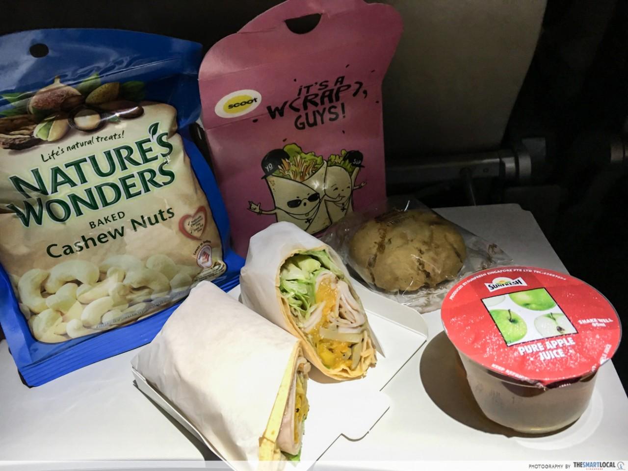 scoot light meal combo greece flight