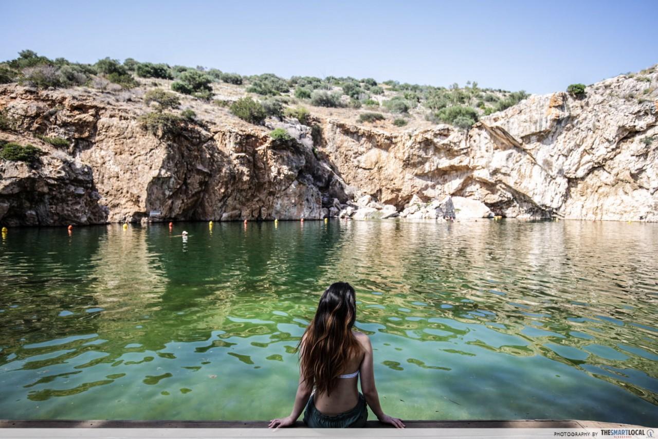 vouliagmeni lake thermal spring greece