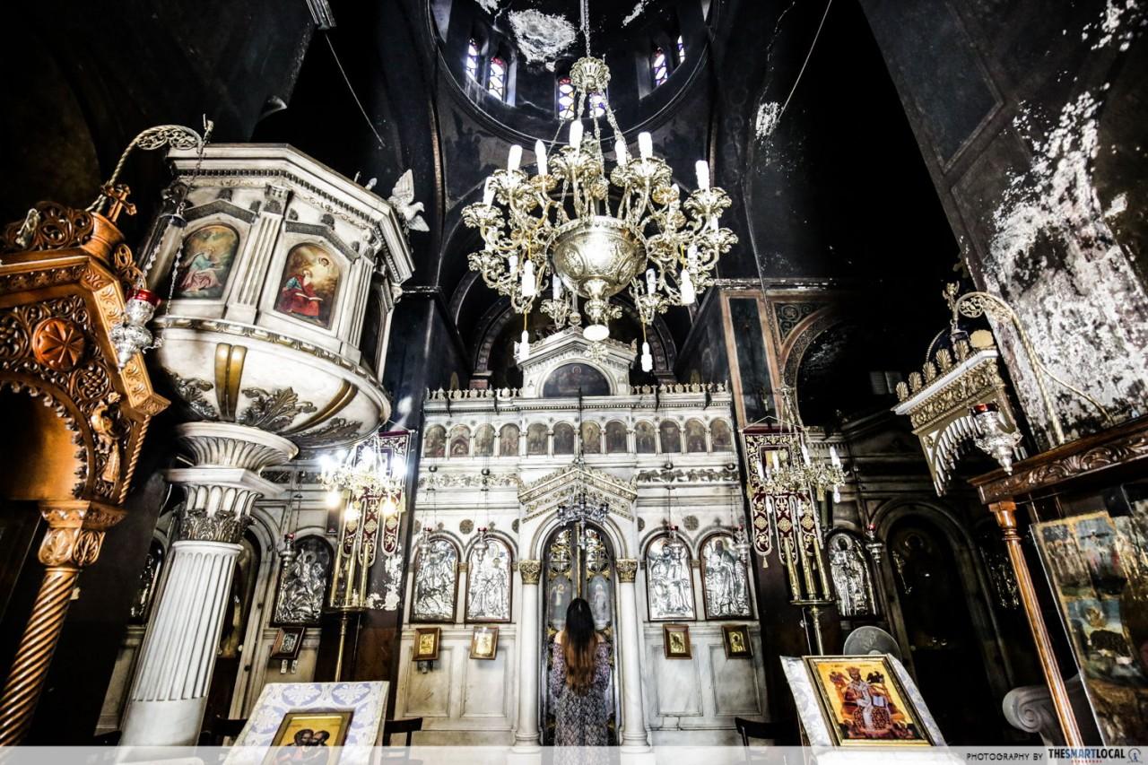 church of agioi theodoroi interior