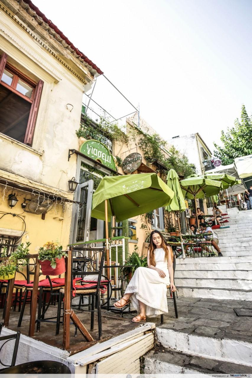 plaka stairs athens greece