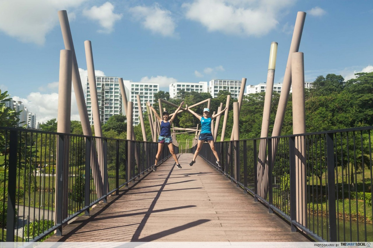 punggol waterway park kelong bridge