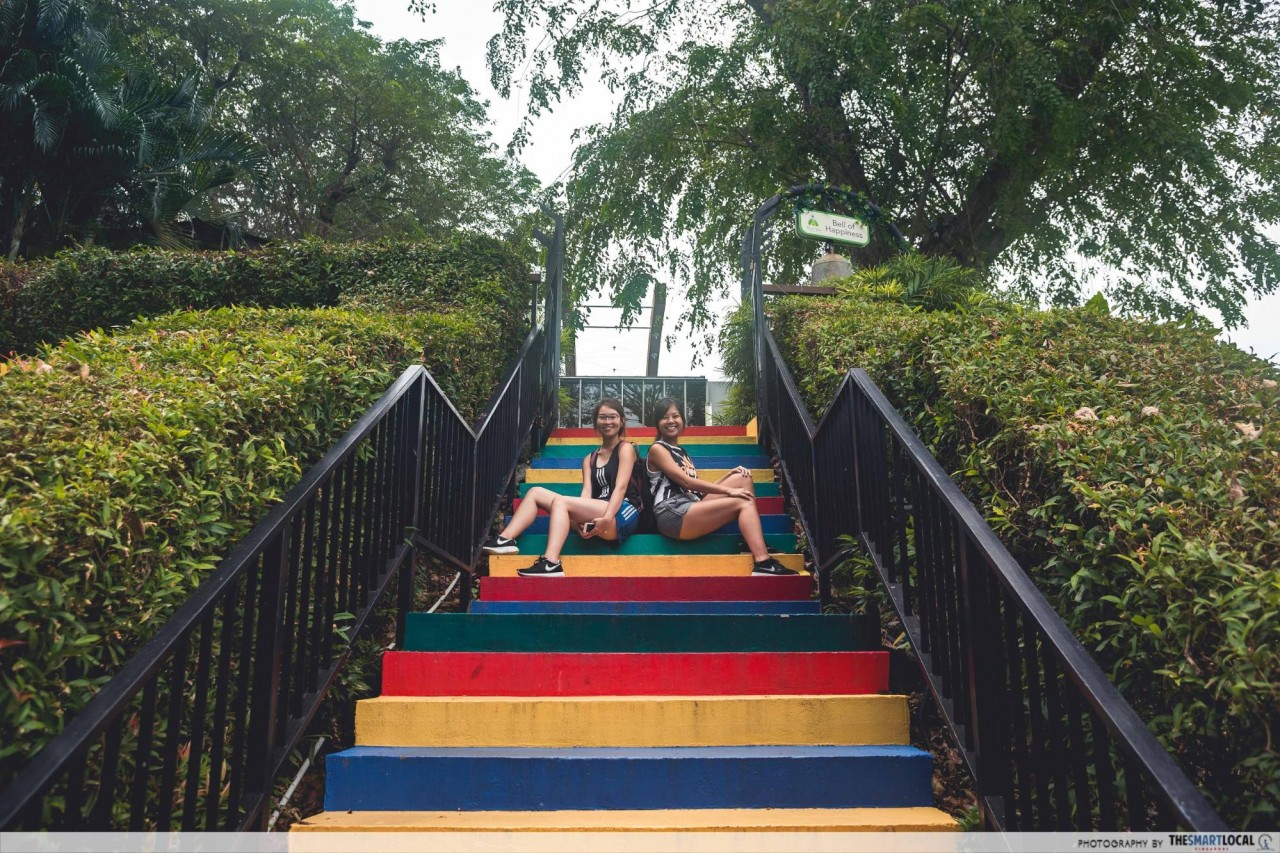 mount faber colourful stairs