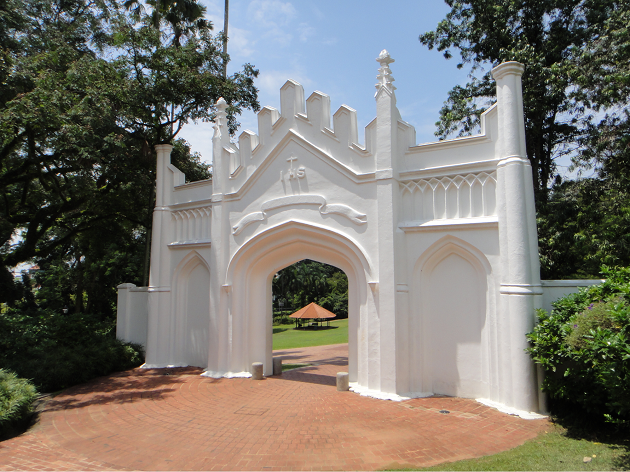fort canning park white gates