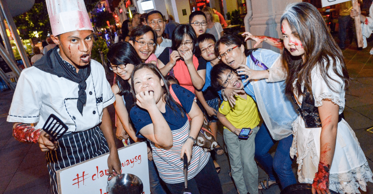 There's A Halloween Party At Clarke Quay On 28 Oct With Free Scare Zones And Live Band Performances