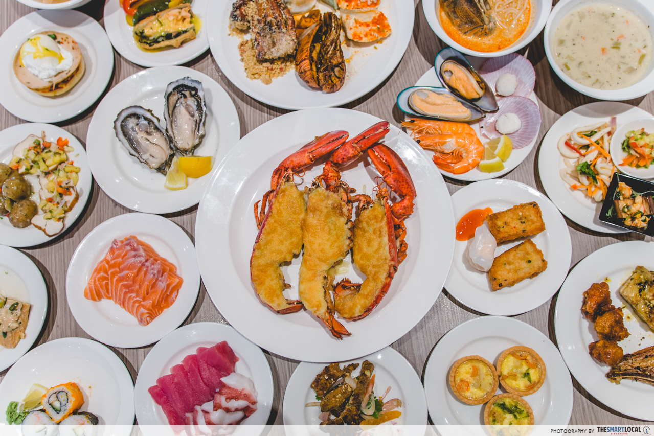 fourpoints-seafood-buffet-flatlay