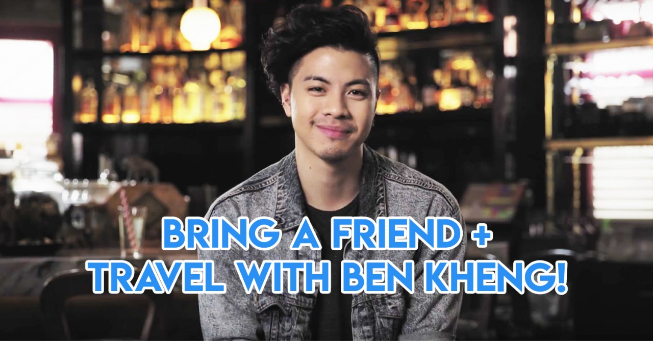 This Contest Is Your Shot At A Paid Trip With Benjamin Kheng To Anywhere In The World