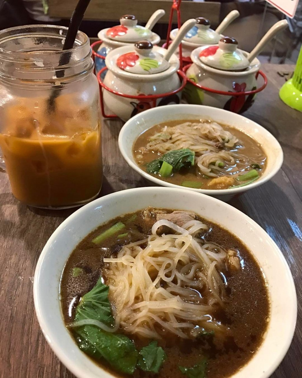 Beef and Pork boat noodles from Victory Thai Boat Noodle