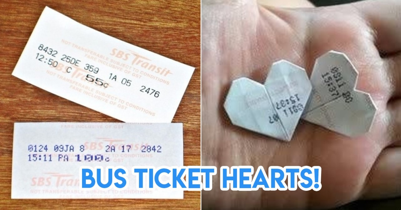 SBS Bus ticket hearts