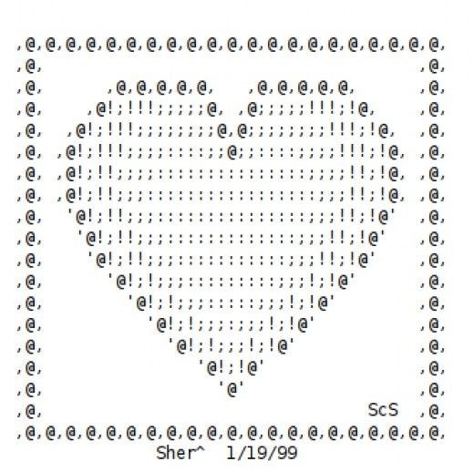ASCII Heart for valentines day