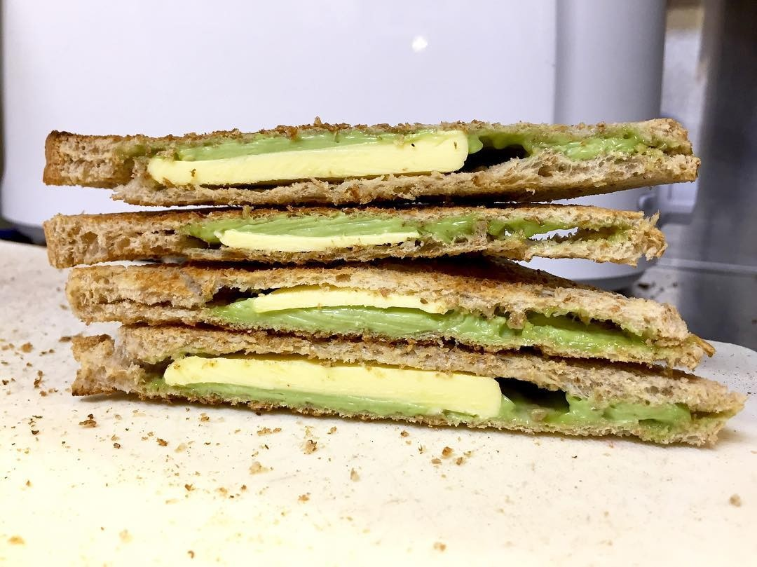 coffee break matcha coconut toast
