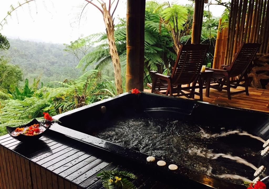 private jacuzzi at sang giri mountain tent resort