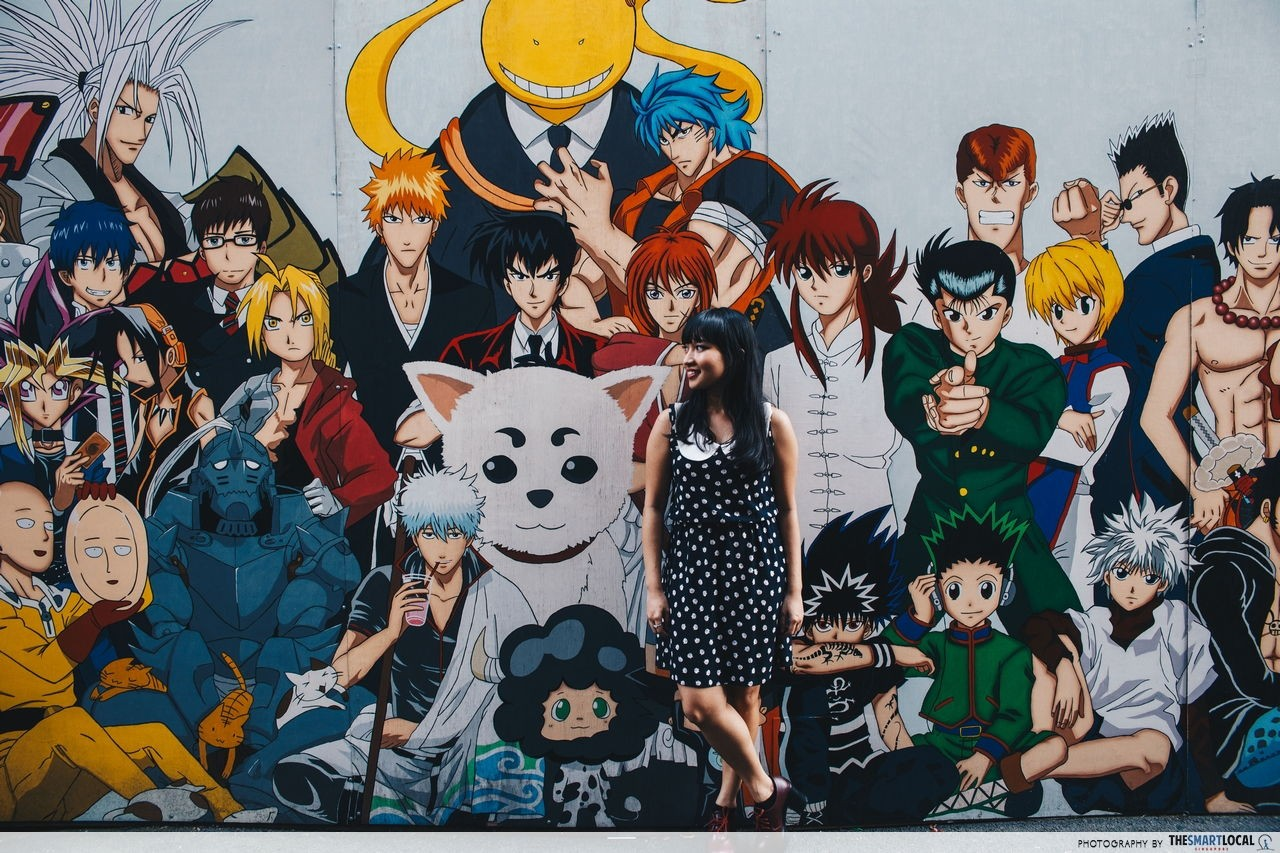 Painted Animation Lane Taichung Bleach YiGiOh anime mural