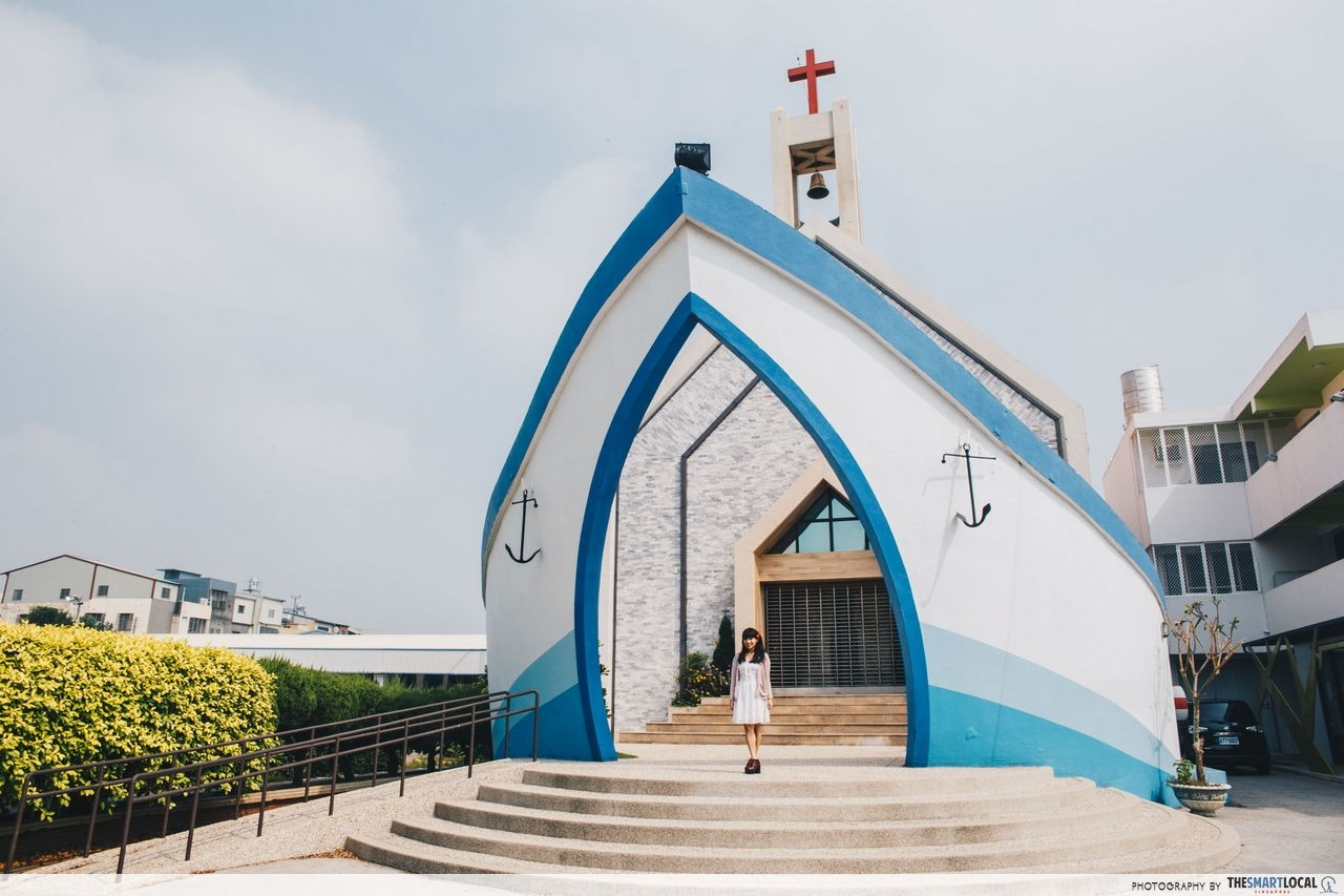 Ship-shaped Panding Church Taichung Taiwan