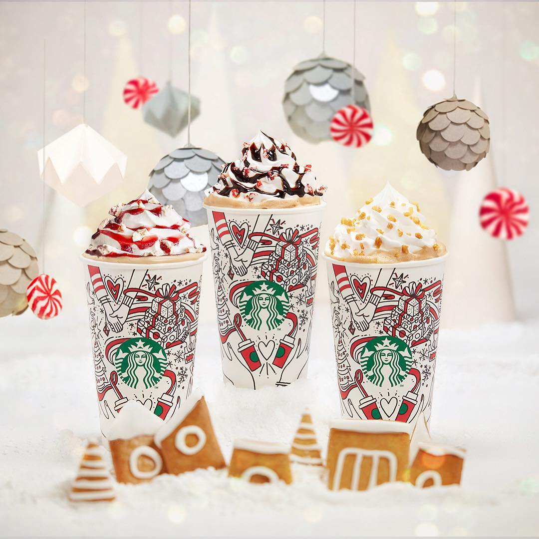 1-for-1 christmas starbucks drinks november deals