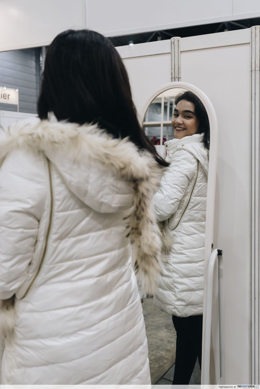 fitting rooms at winter time's sale