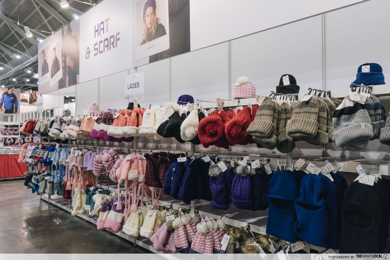 gloves, earmuffs, scarves, socks from $5 onwards