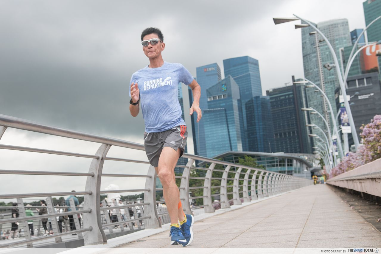 Seasoned marathoner in Singapore