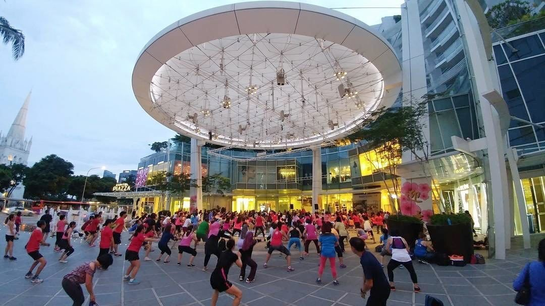 Free workouts in Singapore mall aerobics