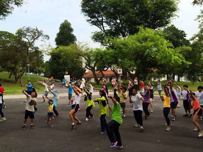 Free fitness workouts in Singapore Sundays@the park