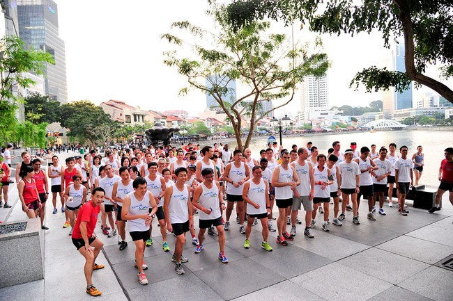 Free exercise in Singapore i-Run running sessions