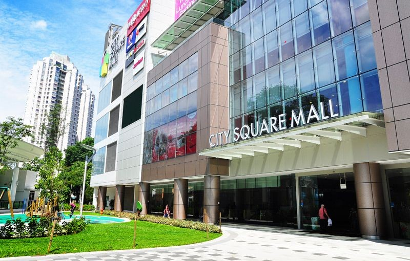 Multi layer facade at city square mall