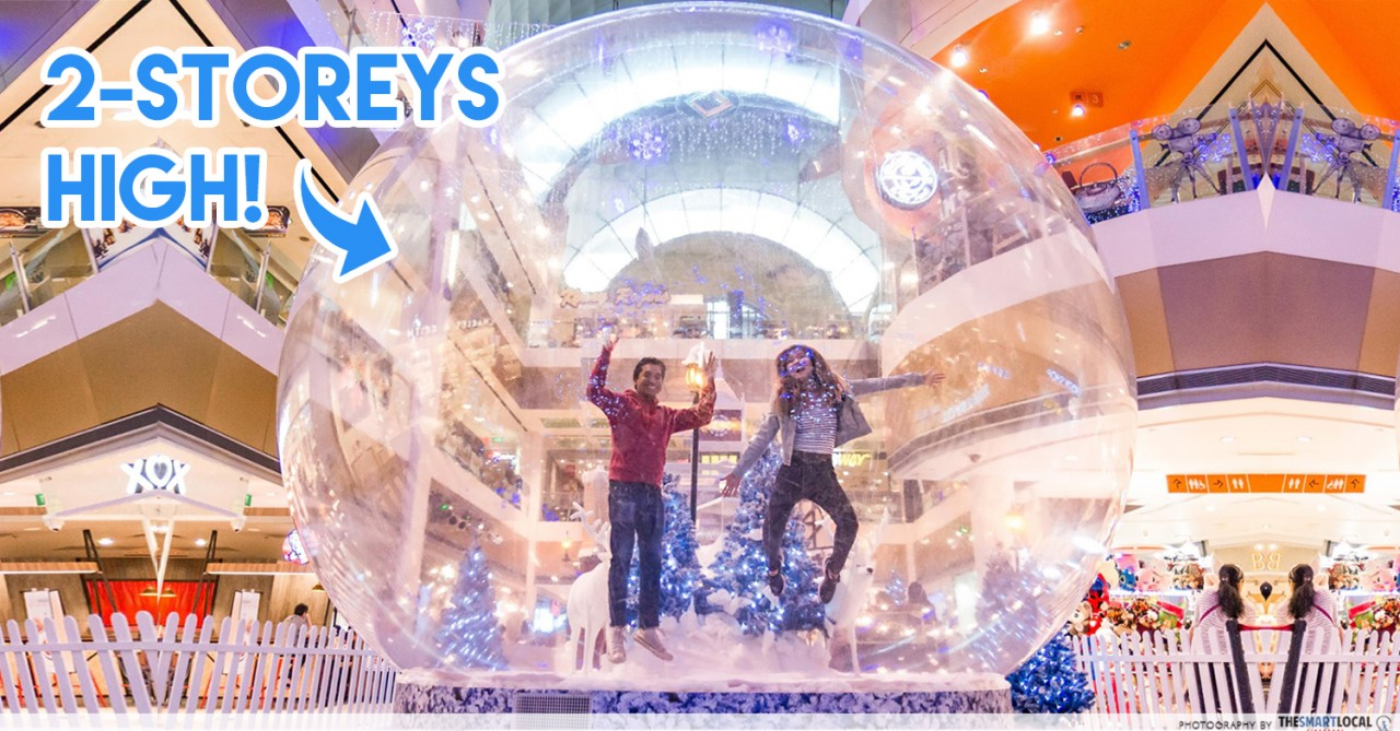 Velocity Gets Whimsical This Christmas With A Life-Sized Snow Globe And Festive Pop-up Stalls