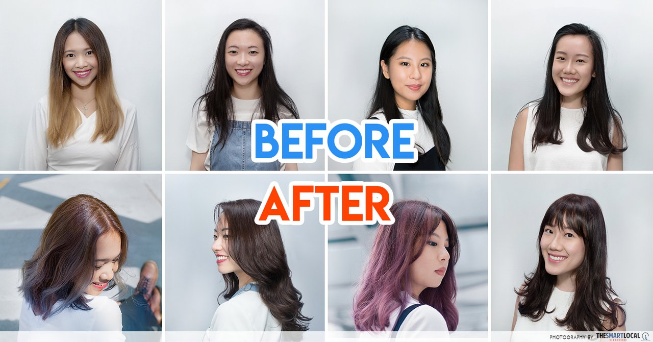 8  Complete Hairstyle Makeovers For Singaporean Girls On Point For 2018