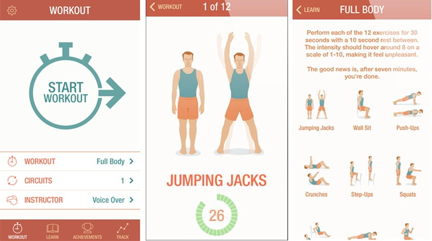 7 minute workout exercise app