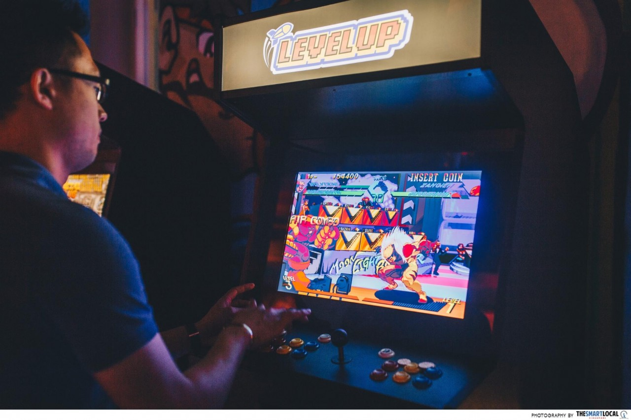 Level Up Singapore Arcade Bar old-school street fighter