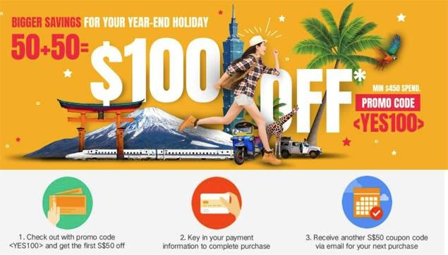 $100 Off from Klook