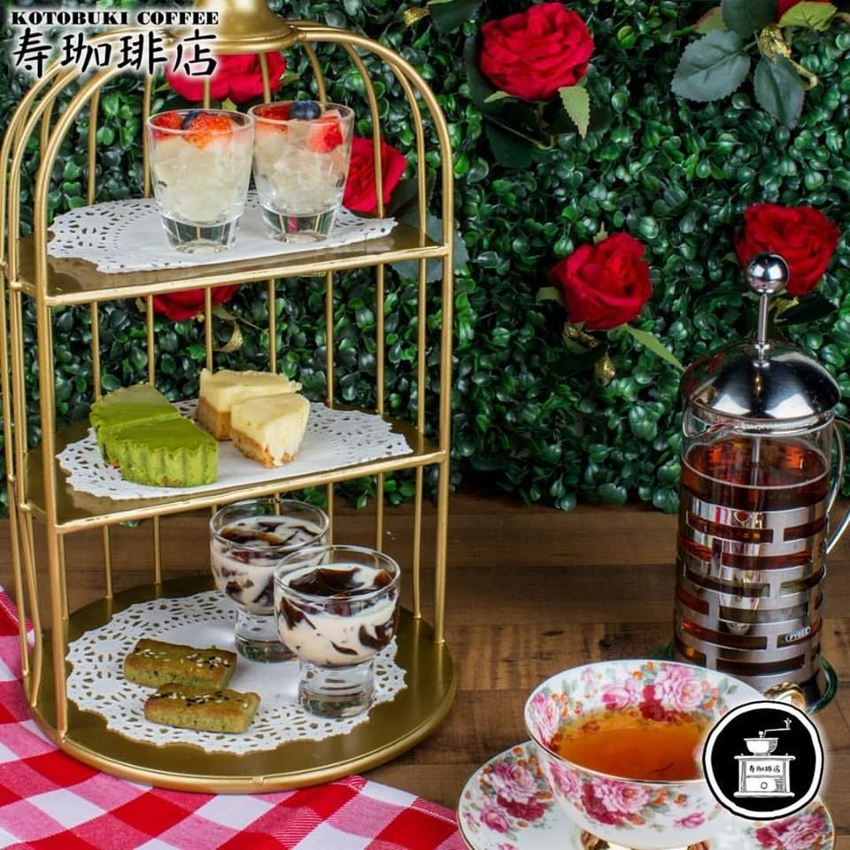 Kotobuki Coffee Happy Sensation Dessert afternoon tea set