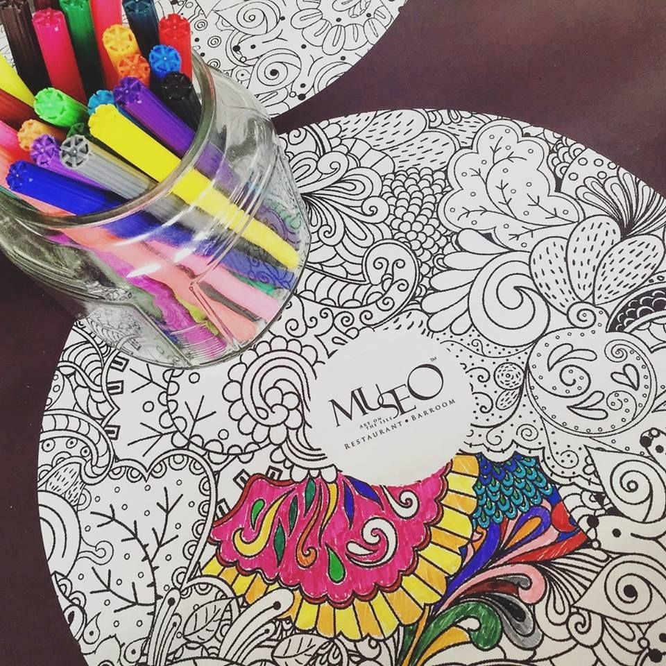 Museo Quayside Isle colouring paper art