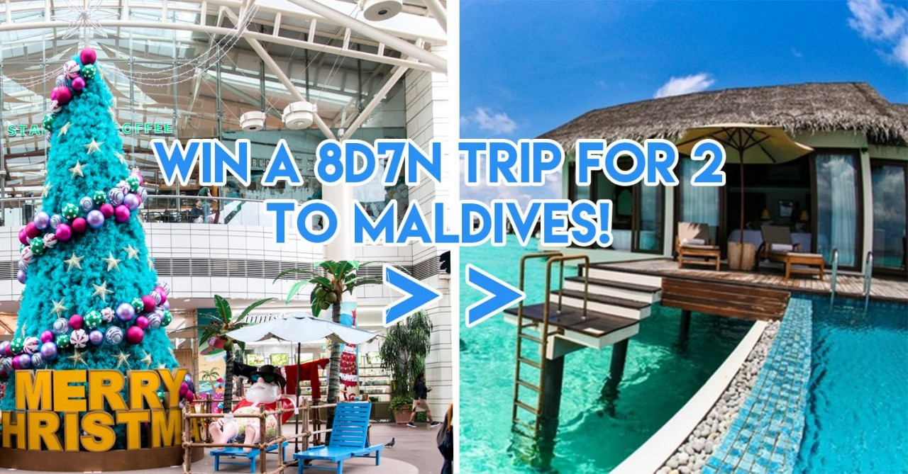 Jurong Point Christmas Shoppers Can Exchange Their Receipts For A Chance To Win A $16,400 Maldives Trip