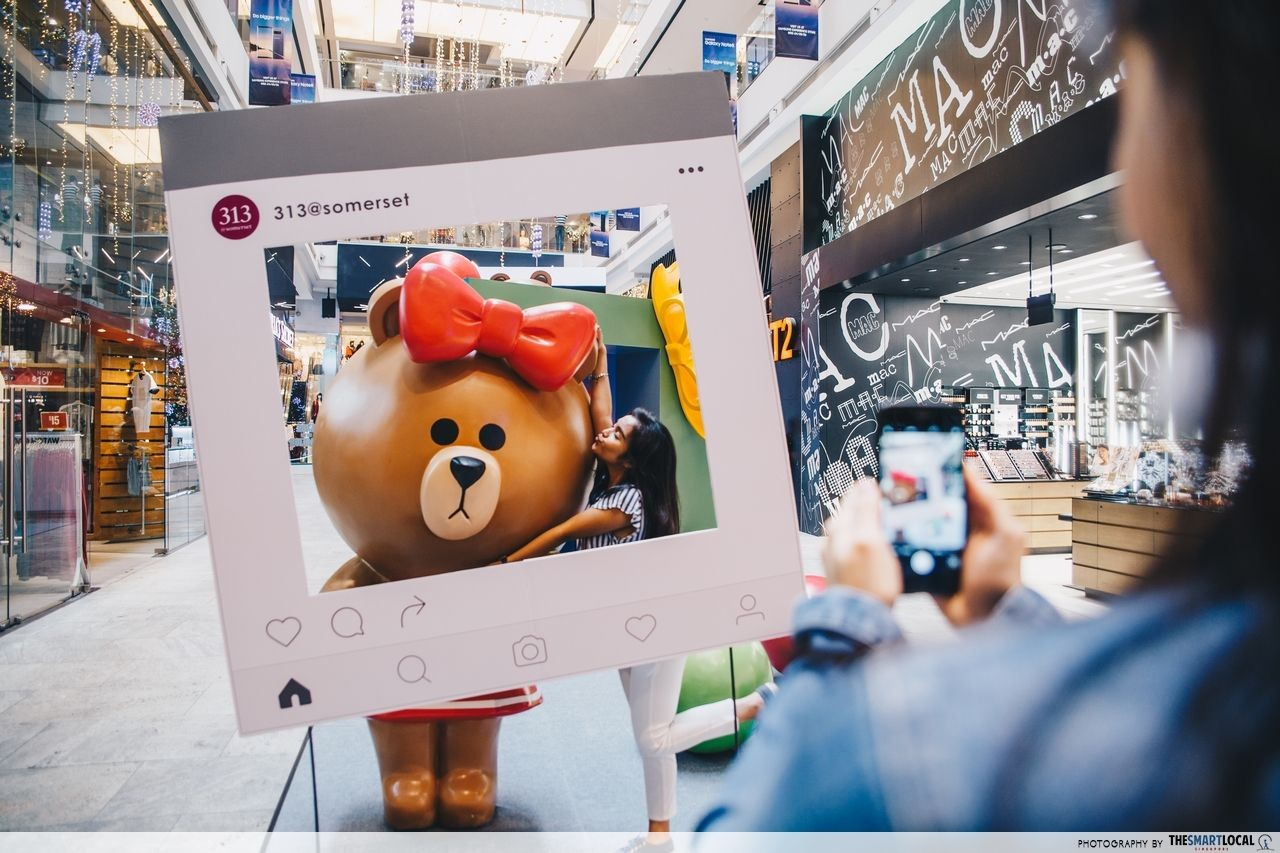 Snap a selfie with Sally, Brown, Cony and Choco