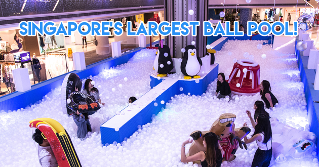 I12 Katong's Giant Ball Pit For Adults AND Kids Is Breaking A National Record This Christmas