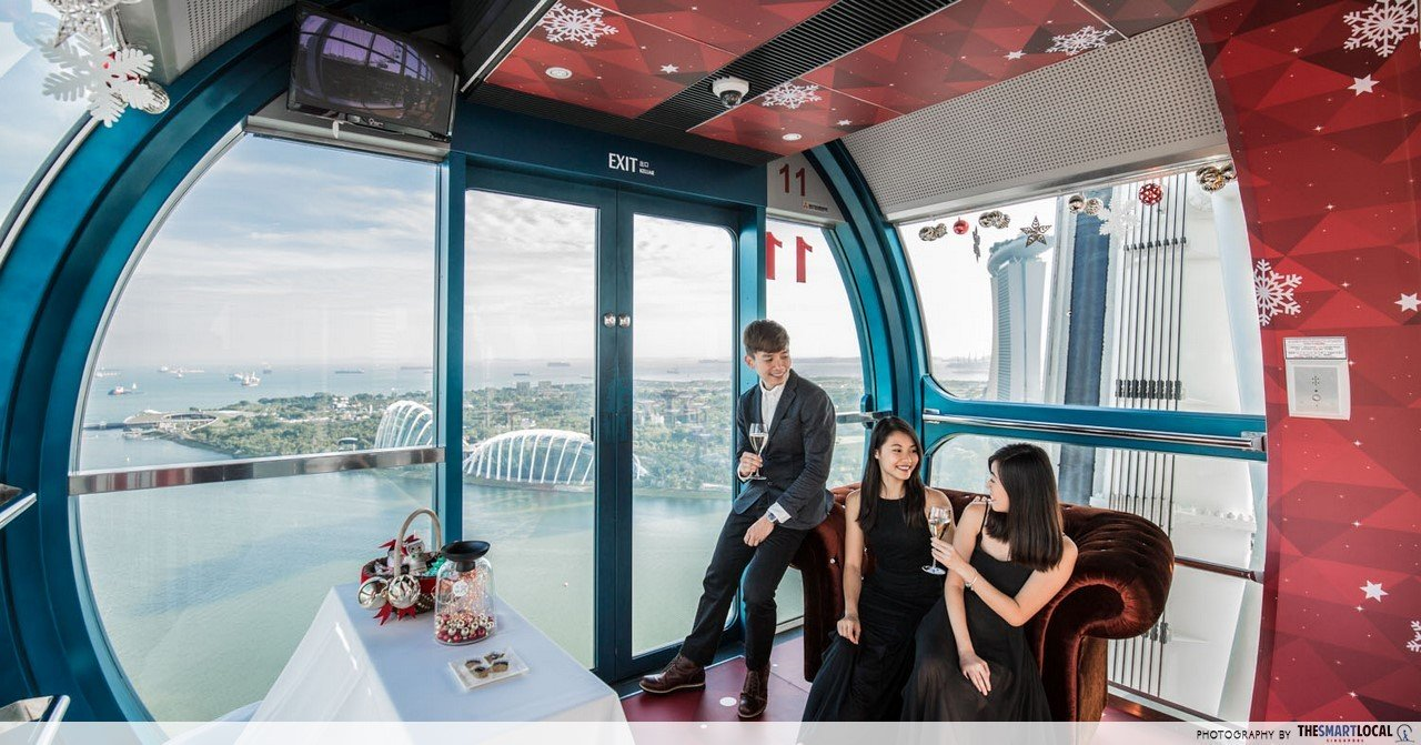 Singapore Flyer's Christmas & NYE Dinners Are Made For Epic Countdowns Away From The Heat & Crowds