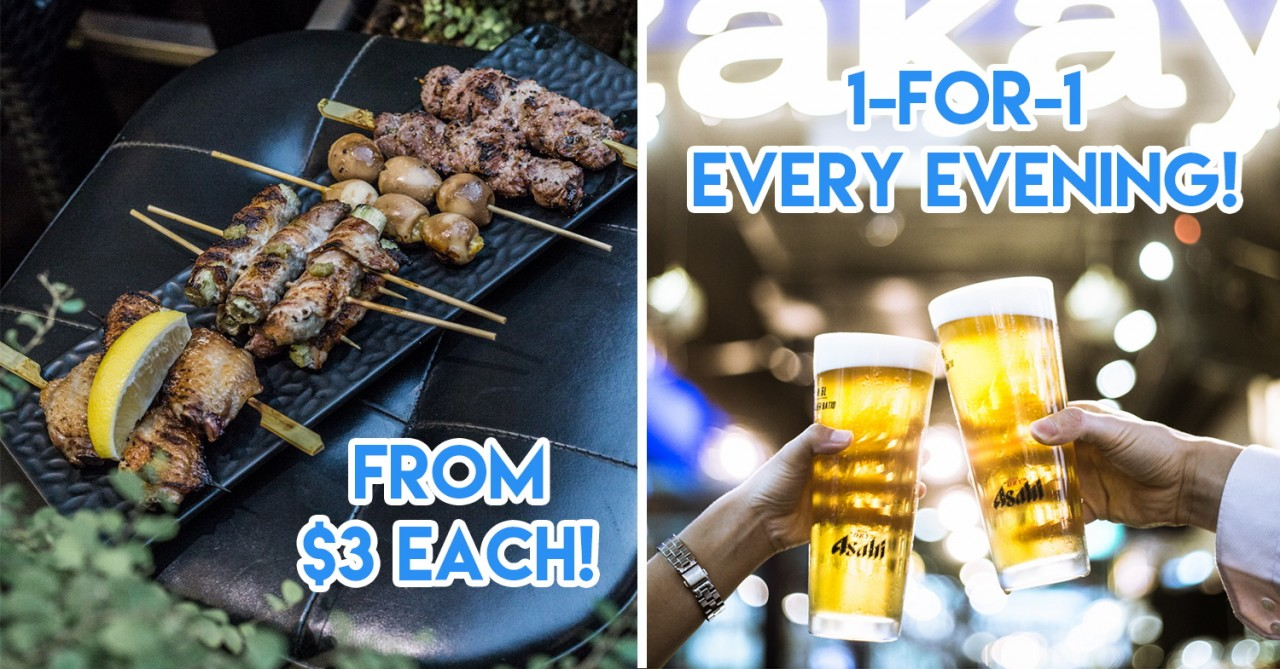 The Modern Izakaya - 1-For-1 Beers Daily & Grilled Skewers In City Hall For After-Work Hangouts