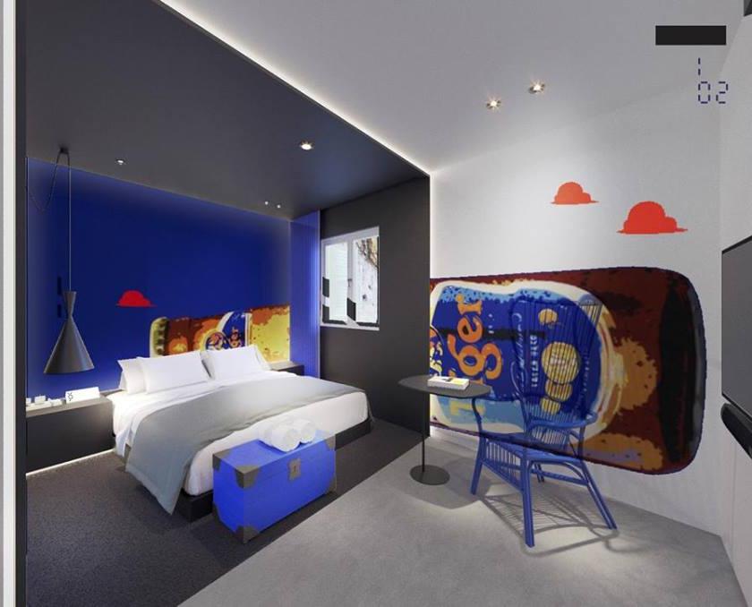 xy hotel bugis singapore tiger beer room