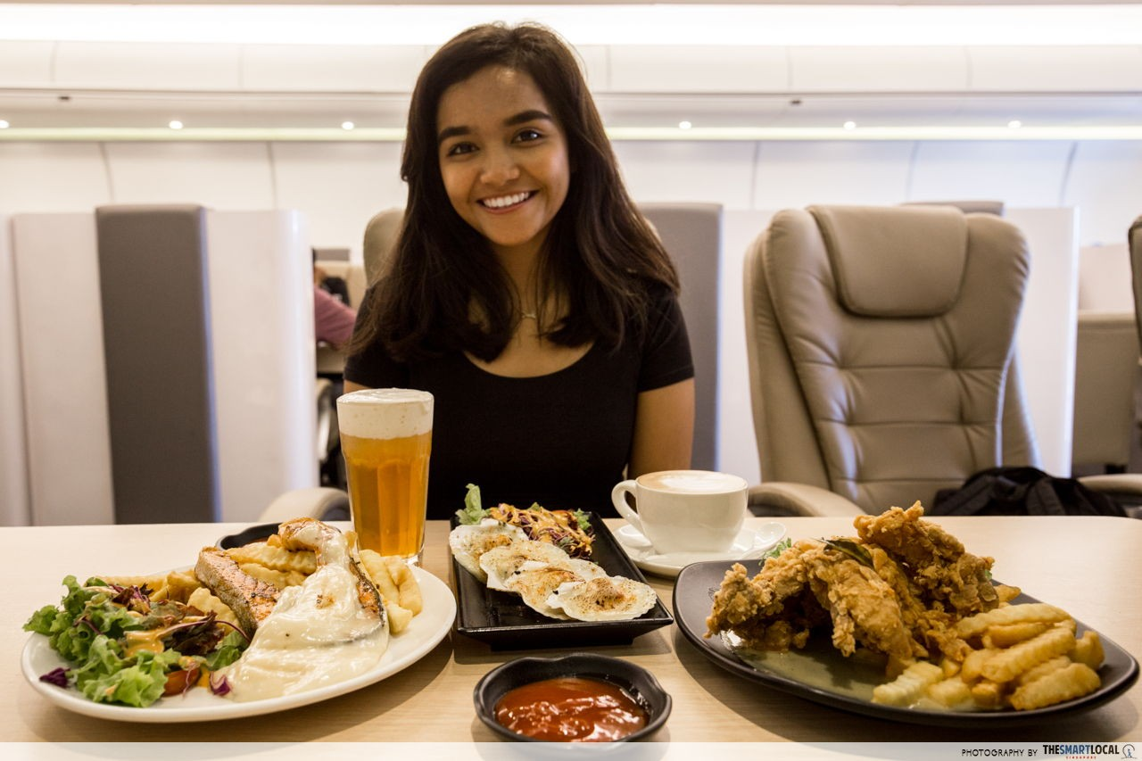 Bon voyage and bon appétit at The Dreamliner Airways Cafe