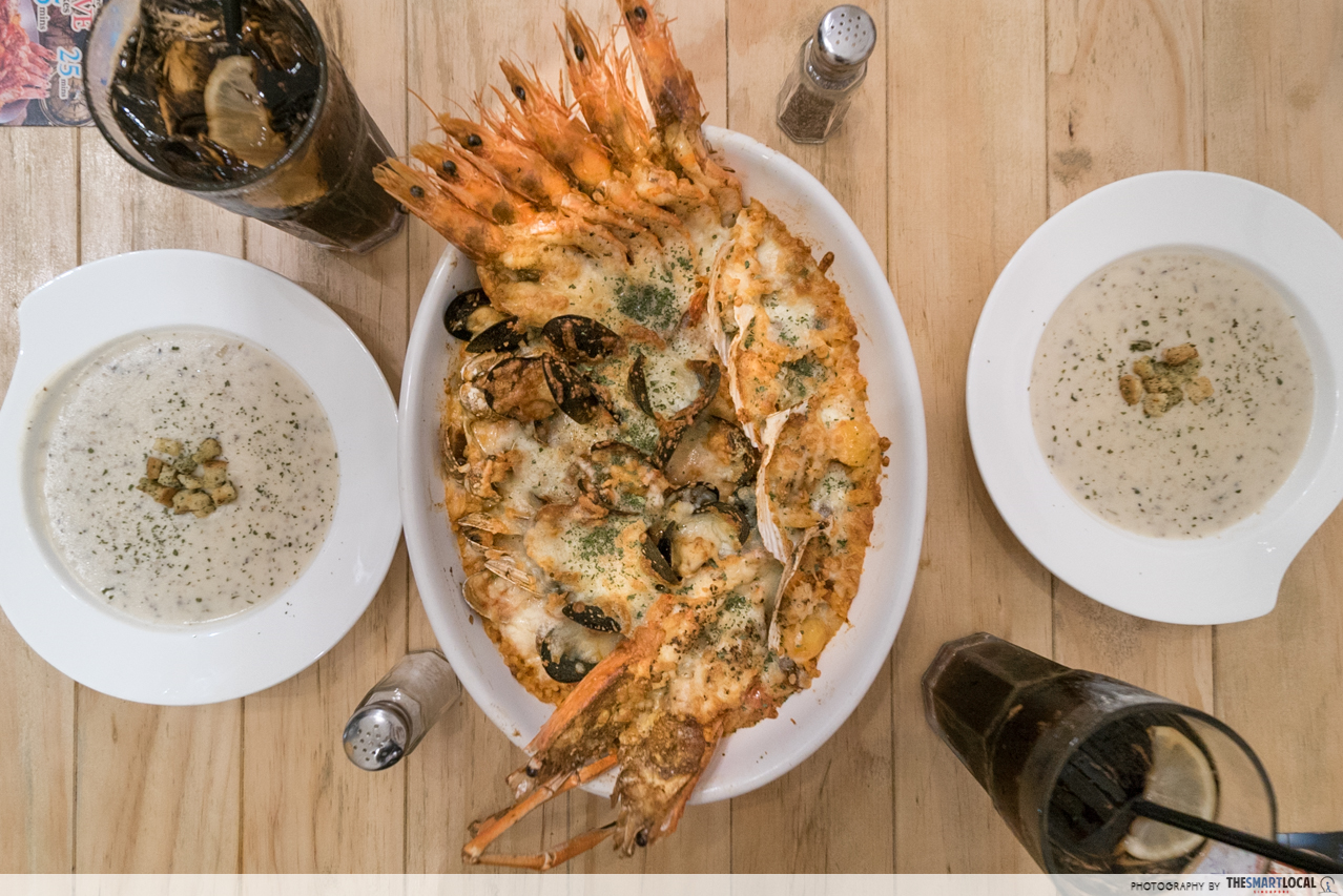 rejoice in baked seafood goodness