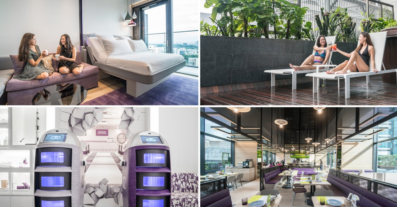 YOTEL Singapore - This Futuristic Hotel In Orchard Has Airplane Cabin-Themed Rooms & Guest Service Robots