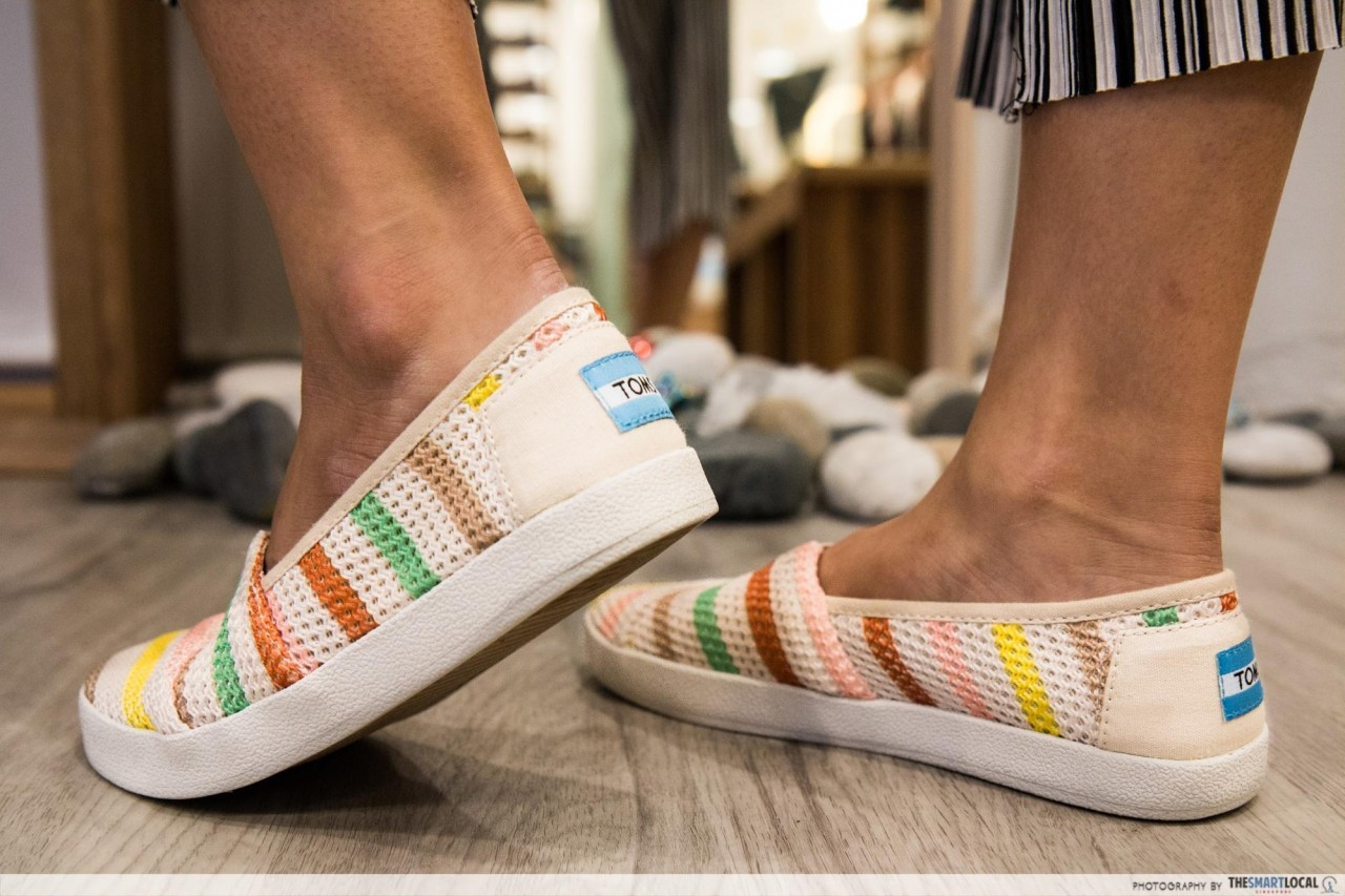 Marina Square App - TOMS Shoes