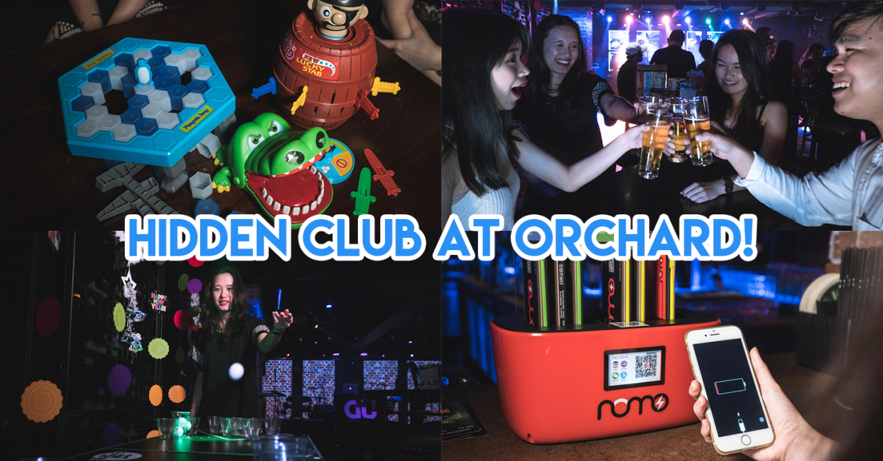 D'Underground - This New Bar/Club At Orchard Has Free Flow Booze With Games Like Beer Pong & Crocodile Dentist
