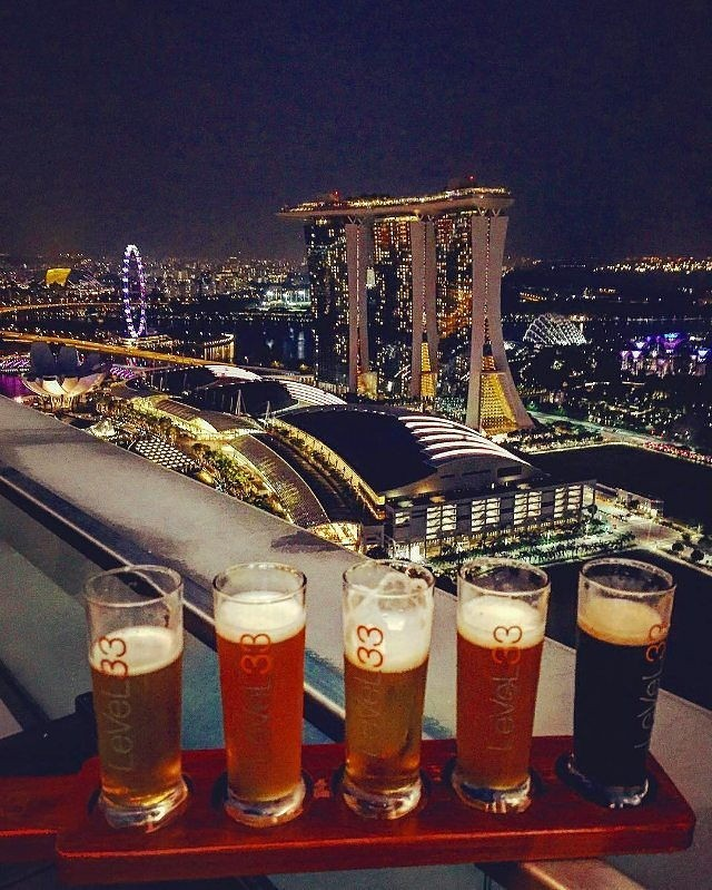 Level33 rooftop bar cheap New Year's Eve Countdown party with good view of fireworks