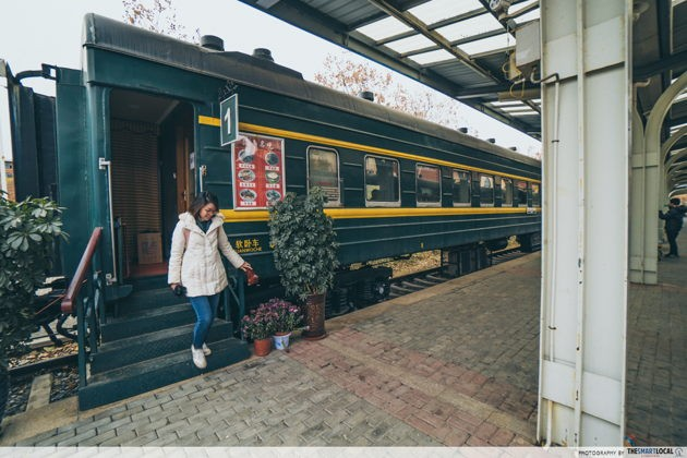 Cool things to do in Jinan China Shandong Jianzhu University Train cafe